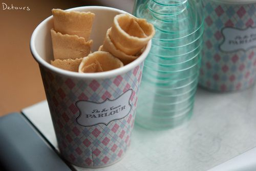 Sydney Zeta Bar - Ice cream cups and cones