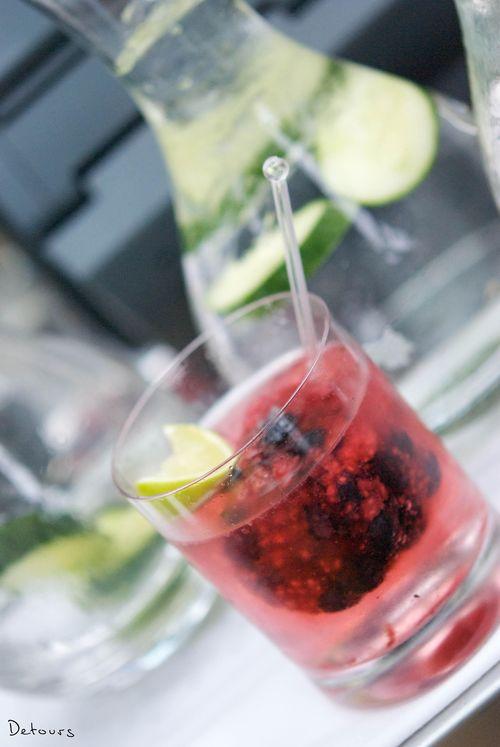 Sydney Zeta Bar - berries and vodka cocktail