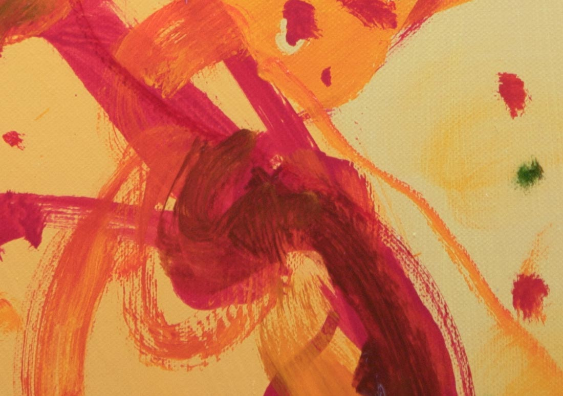 Close-up John Olsen painting Duck a l'Orange