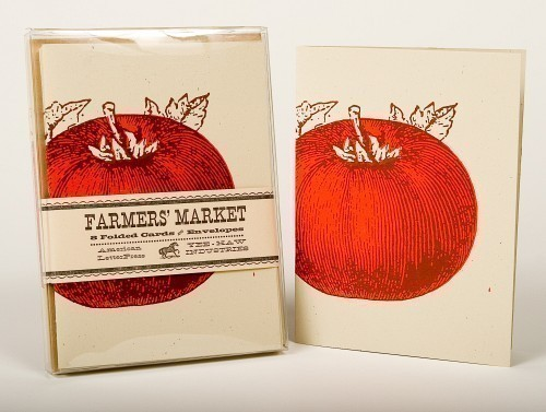 Yee Haw letterpress cards - heirloom veggies 6