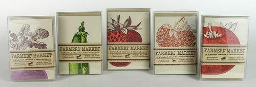 Yee Haw letterpress cards - heirloom veggies 1