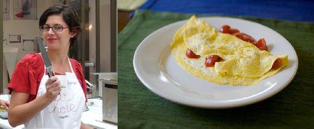 Mytinerary founder Myriam Thibault; omelet
