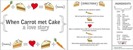 Kristen Almeida, carrot cake, They Draw and Cook food illustration blog