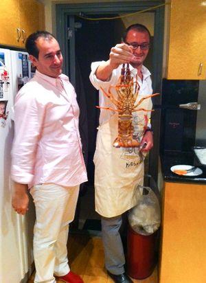BBQ lobster Christmas dinner