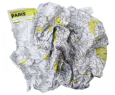 Crumpled City Maps, travel